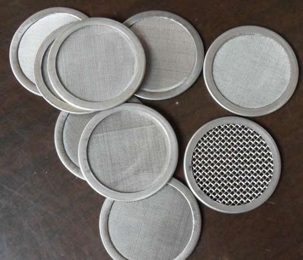 Extruder Screen Packs Multi Layer Wire Mesh Filter With Rims